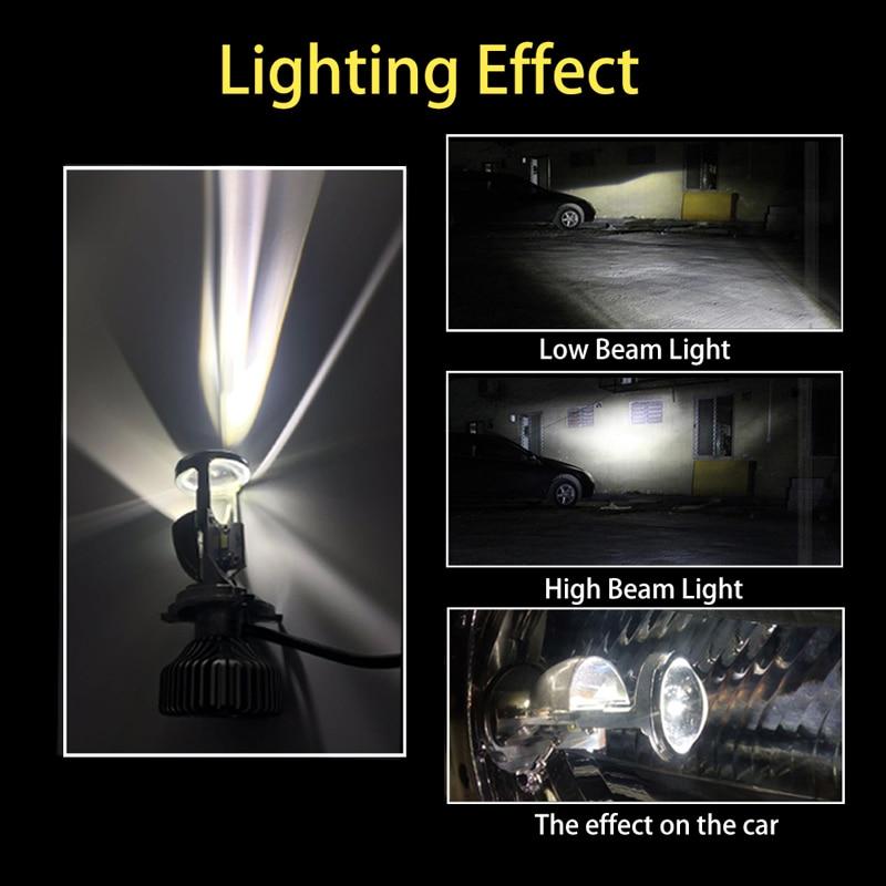 US $62 99 30% OFF 2pcs 70W/Pair Lamp H4 LED Mini Projector Lens G6  Automobles LED Bulb LED Conversion Kit Hi/Lo Beam Headlight 12V/24V 5500K  White-in