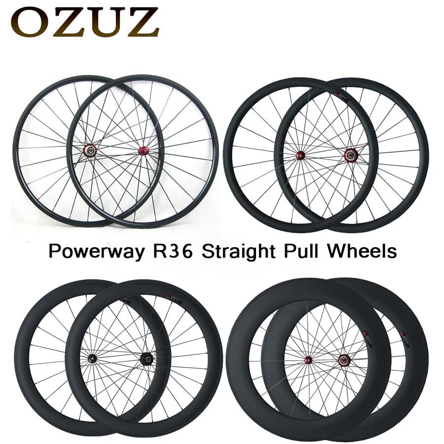 OZUZ Top qualité carbone tubulaire roues 38mm 50mm 88mm droite traction vélo de route carbone roue 3 K mat 700C roues