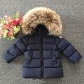 2016 marca de moda de invierno ropa de bebé chaqueta del muchacho niños grueso tipo prendas de vestir exteriores traje de marca de la muchacha abajo abrigos