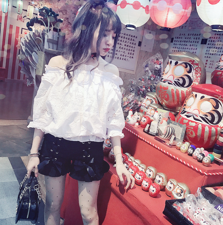 Princess sweet lolita shorts BoBON21 Exclusive design Japanese summer style sweet young girls lace up high