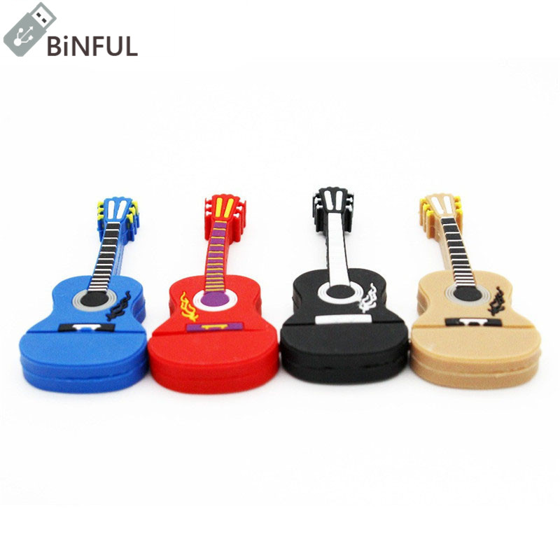 Usb Flash Drives External Storage Jaster Promotion Real Capacity Creative Usb Cartoon Musical Instrument Torch Guitar Usb Flash Drive 2.0 4gb 8gb 16gb 32gb 64gb