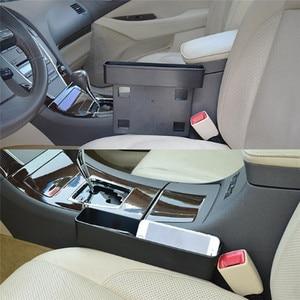 Image 4 - Receptor de asiento de coche negro, consola de relleno, bolsillo lateral, llena el espacio entre el asiento, accesorios para coche, 1 ud.