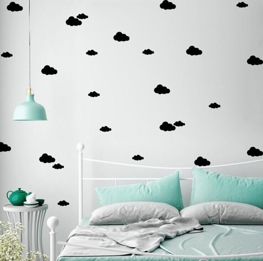 DIY Bedroom Living Room Childrens Room WallSimple And Creative Multi-size Clouds Removable Wall Stickers for kids rooms nt0