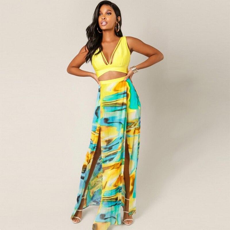 und gelb verband t qualit dress neue party flare dress frauen ausschnitt sommer patchwork 2018 fit lange hohe nacht gro handel 2WDeHE9IY