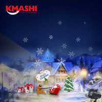 Kmashi Christmas Projector Light 16 Replaceable Lens Night Light Outdoor Waterproof Halloween Projection Lamp Garden Home