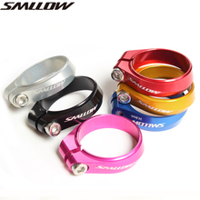 SMLLOW Ultralight Aluminium Alloy 34.9mm 14.5g CNC Mountain Road MTB Bike Bicycle Seatpost Seat Post Clamp Tube Clip aceoffix 3kcarbon bicycle seat post for brompton bmx bike seatpost 31 8mm 580mm ultralight 230g