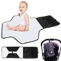 Hot! Joyren Portable Baby Diaper Changing Pad Mat Bag With Storage Pockets Waterproof Travel Changing Station Kit Diaper Clutch
