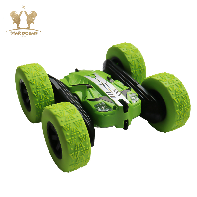 RC Car Rock Crawler Roll 2.4G 4CH Stunt Drift Deformation Buggy 360 Degree Flip Kids Robot Toys