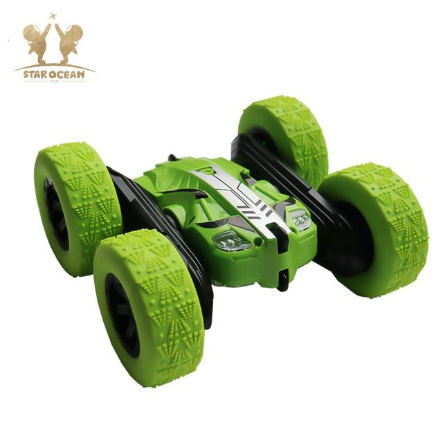 RC รถ Rock Crawler ม้วน 2.4G 4CH Stunt Drift Deformation รถ Buggy 360 องศาเด็กหุ่นยนต์ RC ของเล่นรถ