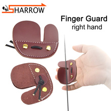 1/2pcs High Quality Cowhide Finger Guard Right Hand Protective Gear Finger Protector For Shooting Hunting Archery Accessories 1 2pcs high quality cowhide finger guard right hand protective gear finger protector for shooting hunting archery accessories