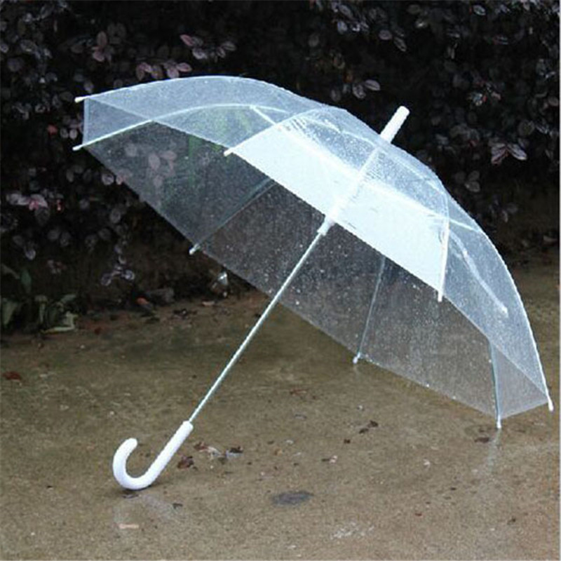2pcs Portable Fashion Transparent Clear Rain Umbrella Parasol PVC Dome for Wedding Party Favor