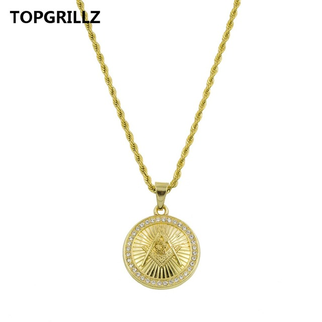 Topgrillz fashion gold color plated hip hop pendants necklaces with topgrillz fashion gold color plated hip hop pendants necklaces with brick medallion motifs tones of aloadofball Image collections