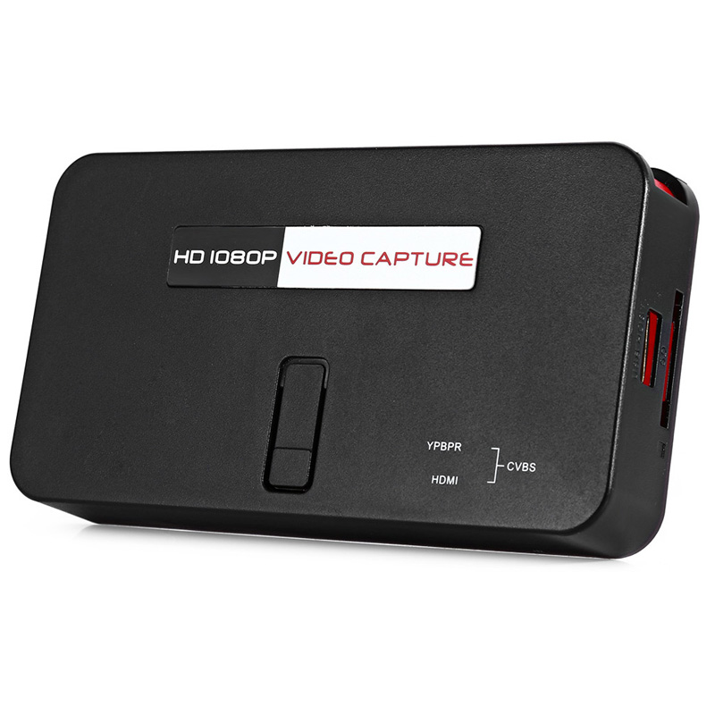 2017 new 1080P Video Capture card, convert video audio to U Flash Disk or SD TF Card from Xbox360/PS3 directly Free shipping 2017 new video card usb2 0 video audio capture card convert analog rca audio video to digital for windows