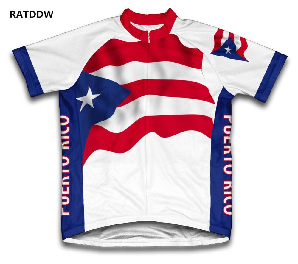 Prix pour Puerto Rico Drapeau Vélo Vélo Clothing Cycle Cyclisme Jersey/Respirant Vélo De Montagne Sport Monde Équipe Roupa Ciclismo