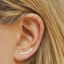 Fashion Cartilage Punk Ear Cuff Clip-On Earrings Non-Piercing Cross 3 Color Wrap Clip Piercing 2019