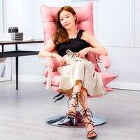 silla oficina Silla de ordenador de estilo Simple de moda creativa Silla de rotación de elevación del hogar Thicken silla de oficina masaje con reposapiés reclinable