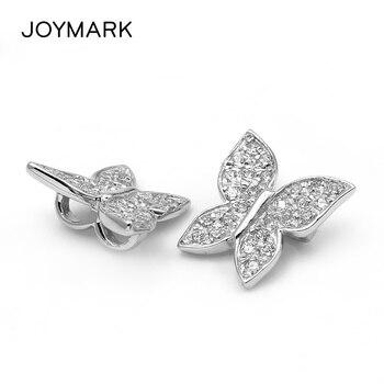f45a5b52636a Forma de mariposa Plata de Ley 925 con Zircon piedra Spacer cierre para DIY  doble hilera de perlas collares pulseras SC-CZ004