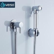 EVERSO Bathroom Bidet Faucet Set Shower Toilet Sprayer Zinc Alloy Holder Douchette Wc Accessorie
