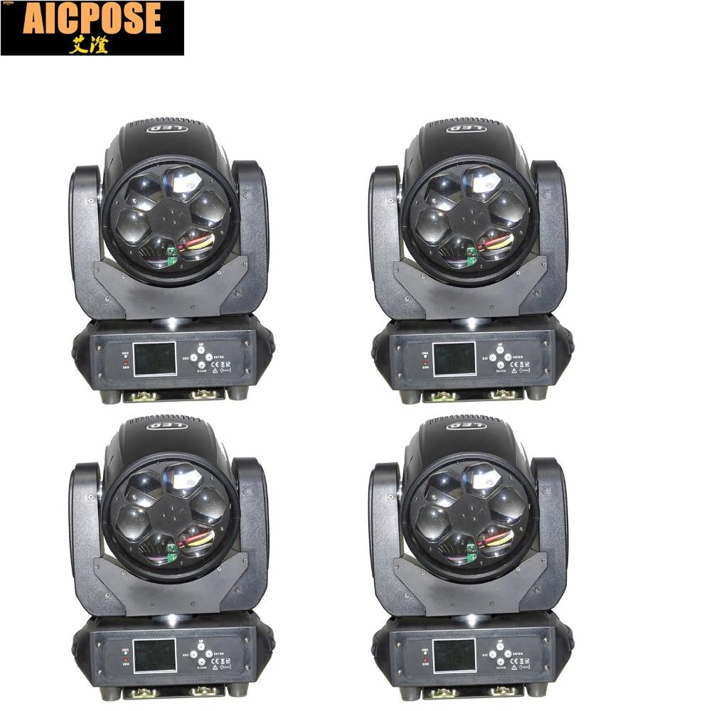 4pcs/lots LED Super Beam 6x40W RGBW 4in1 LED ZOOM Moving Head Beam Light Bee Eye For Bar Led Stage Lighting Dmx Dj Lights