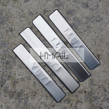 stainless steel door sill strip for YETI SKODA 2014 15 16 Exterior car-styling welcome pedal Scuff Plate cover Threshold Trim stainless steel sill strip for k ia k2 car styling exterior accessories window trim