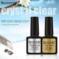 IBCCCNDC 10ml Gel UV Nail Top Base Coat 80 Color Gel Polish Lacquer Semi Permanent Gel Varnish Nail Primer Top Coat Base Coat