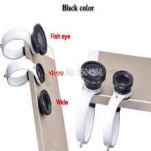 KOYOT 3 In 1 Universal Clip camera Mobile Phone Lens Fish Eye + Macro + Wide Angle for iphone 4 5 6 Samsungnote2 3 4 HTC
