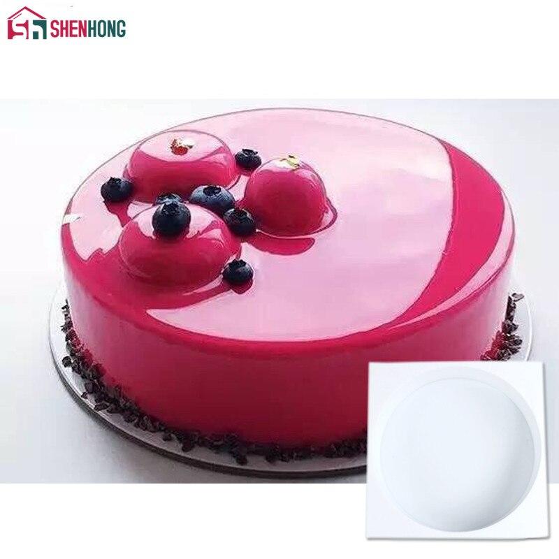 Shenhong silikon kuchen runde form backen kuchenform für pudding mousse schokolade dekorieren formen backformen werkzeug pan