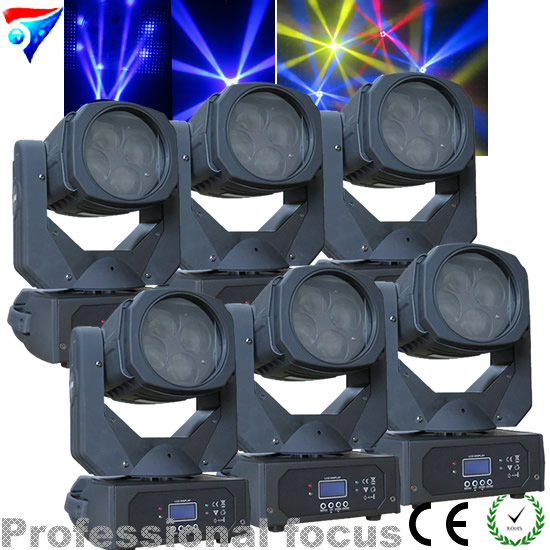 Free Shipping 6pcs/lot Hot Products 130W LED Super Beam Moving Head Light 4*25W Mini DMX Stage Strong Beam Effect Light