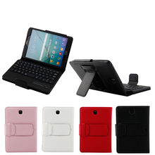 Folio Leather Case + Bluetooth Toetsenbord Voor Samsung Galaxy Tab S2 8.0 inch T710 20A Drop Shipping(China)
