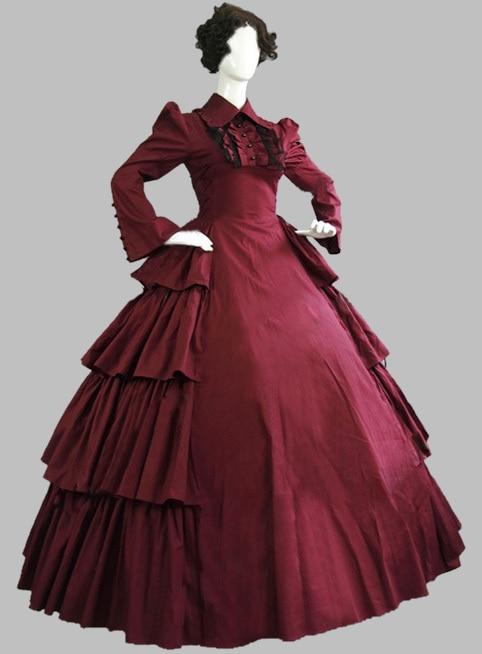 Luxury Gothic Burgundy 19th Century Noble Victorian Era