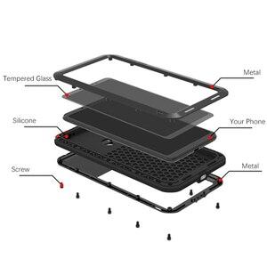 Image 2 - אהבת מיי מתכת מקרה עבור Xiaomi Mi מקסימום 3 כיסוי אלומיניום שריון עמיד הלם עמיד למים מקרה עבור Xiaomi Max3 חזק חיצוני כיסוי
