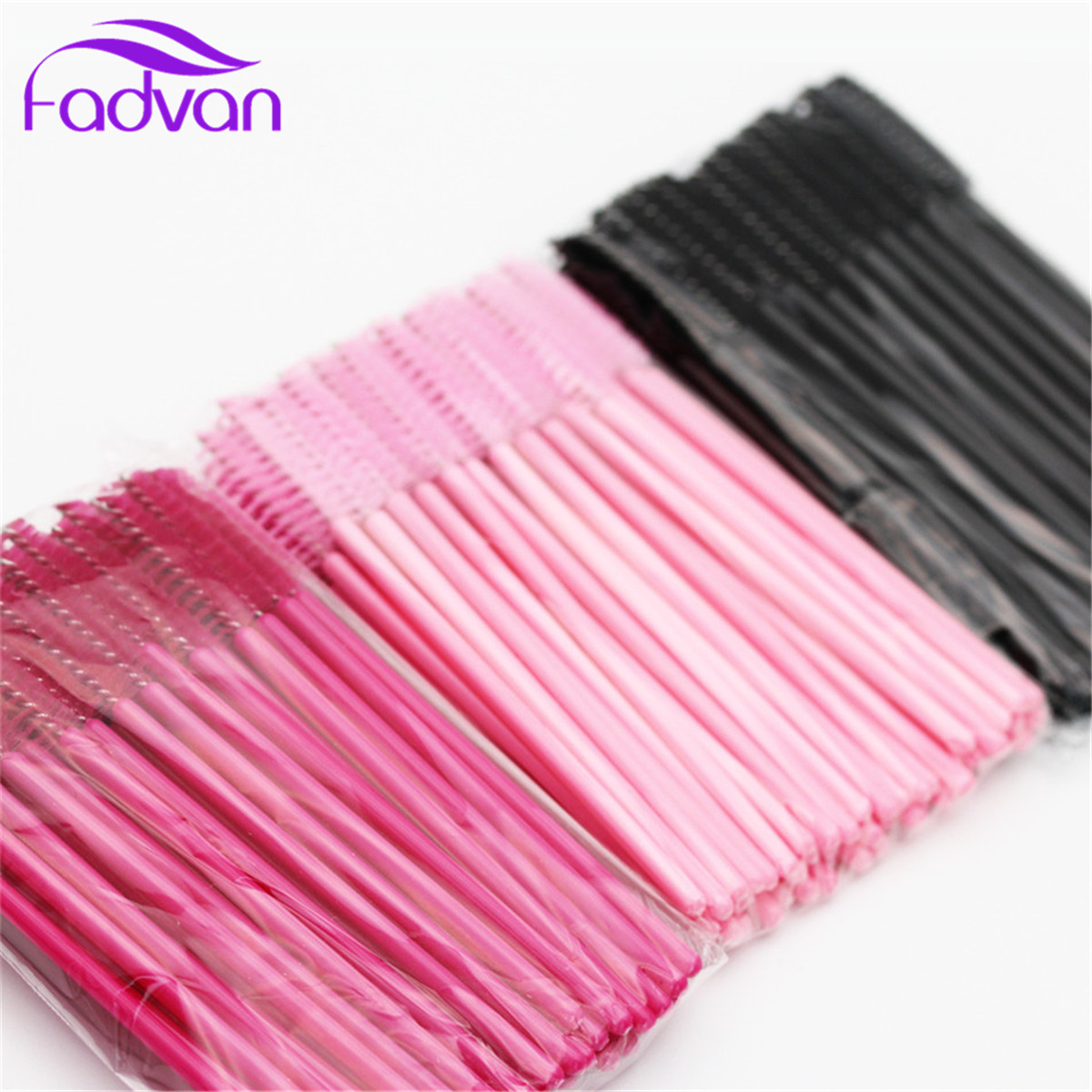 New 100 Pcs/Set Disposable Eyelash Brush Mascara Wands Applicator Spoolers Eye Lashes Eyebrow Brush Eyelash Brush Long Six Color комплект из 3 пар носков с блестящим рисунком