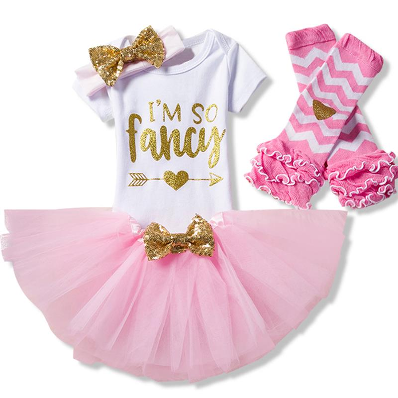 Baby Girl 1st Birthday Outfits One Year Old Clothing Sets Infant Toddler Clothes for Baby Its My 1st Birthday Suit girls wear