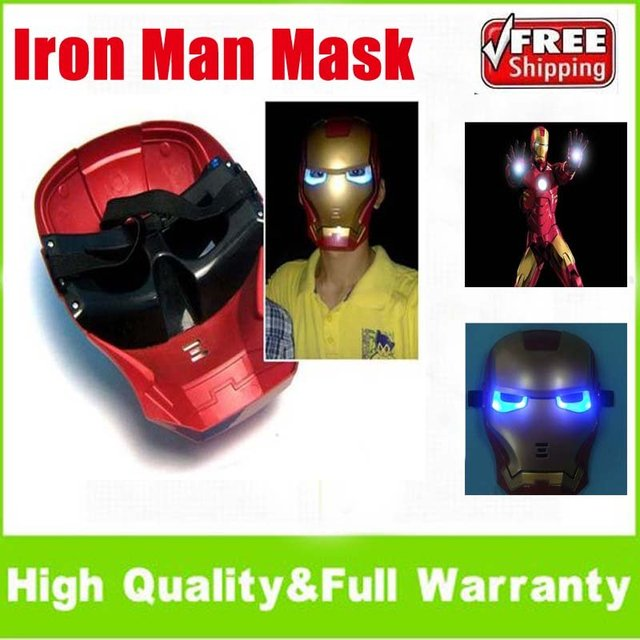 Lite-up Iron Man Mask Halloween Prop Party Costume Toys