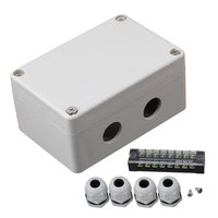 Gray Plastic 15A 8 Position Waterproof Terminals 2 In 2 Out Electric Junction Project Box 100X68X50mm