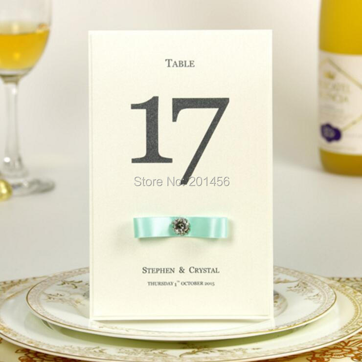 table number card tb21 - Printed Place Cards