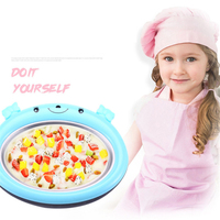 Yogurt Machine Household Small Mini Fried Ice Machine Children's Homemade Fruit Fried Ice Cream Tool Tray Free Plug