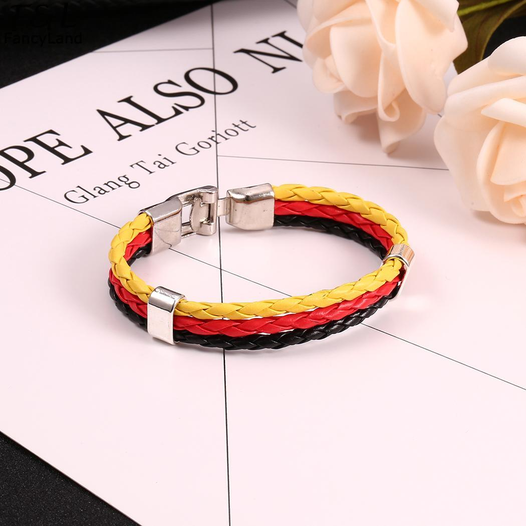 Casual Mulit Braided Bracelet Unisex Hasp Color Contrast Color Clasp Fashion Metal