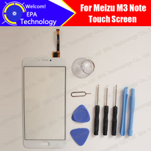 Meizu M3 Note touch screen 100% Original Digitizer glass panel Assembly Replacement for Meizu M3 Note M681H cell phone+ Tools