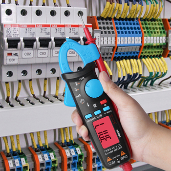 Pince Multimètre Vraie   BSIDE ACM91 Pince Mètre Numérique Courant AC/DC 1mA Véritable Gamme Automatique RMS Contrôle En Direct NCV Temp Condensateur Testeur Multimètre