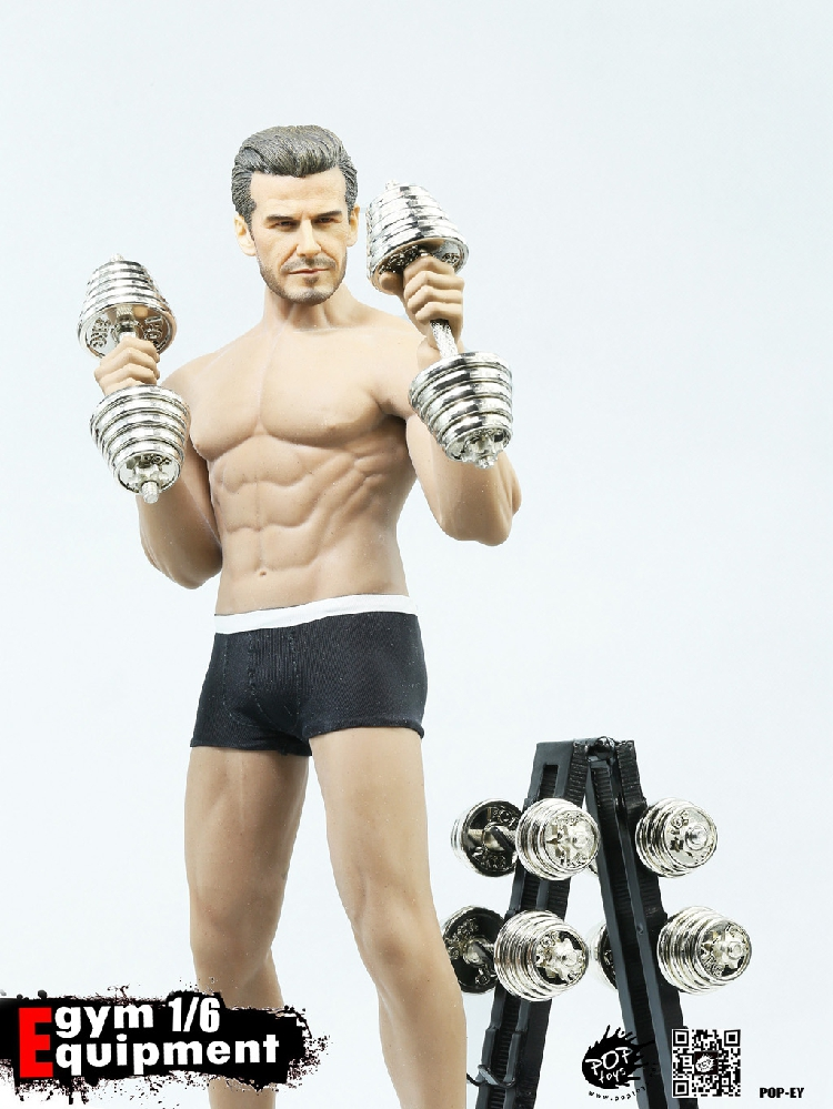"""POPTOYS 1//6 EY01 Figure Doll Gym Equipment Dumbbell Sets Model for 12/"""" Action"""