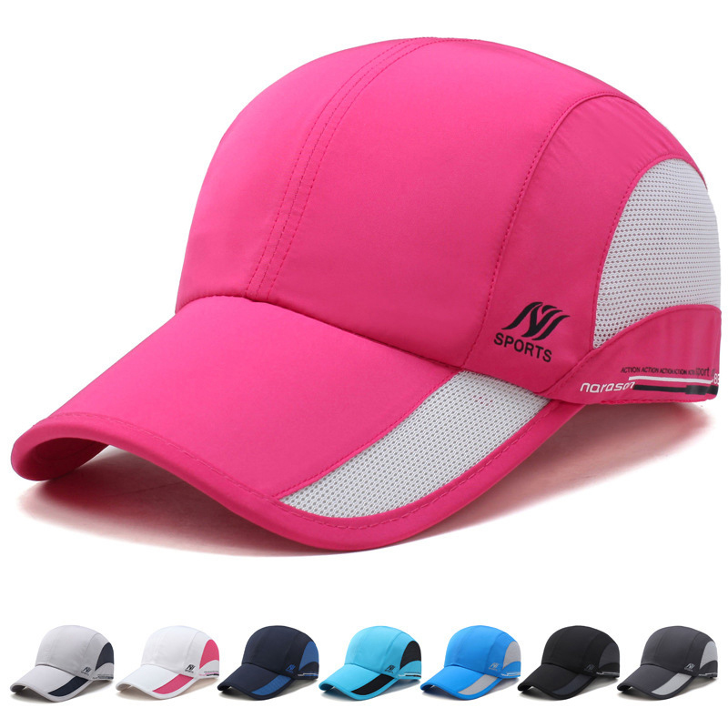 TUMBAK 8 Colors Unisex Sports Running Caps Adjustable Outdoors Fitness Cap  Summer Sun Hat Waterproof Mesh Hat Baseball Cap E509 472f9794781f