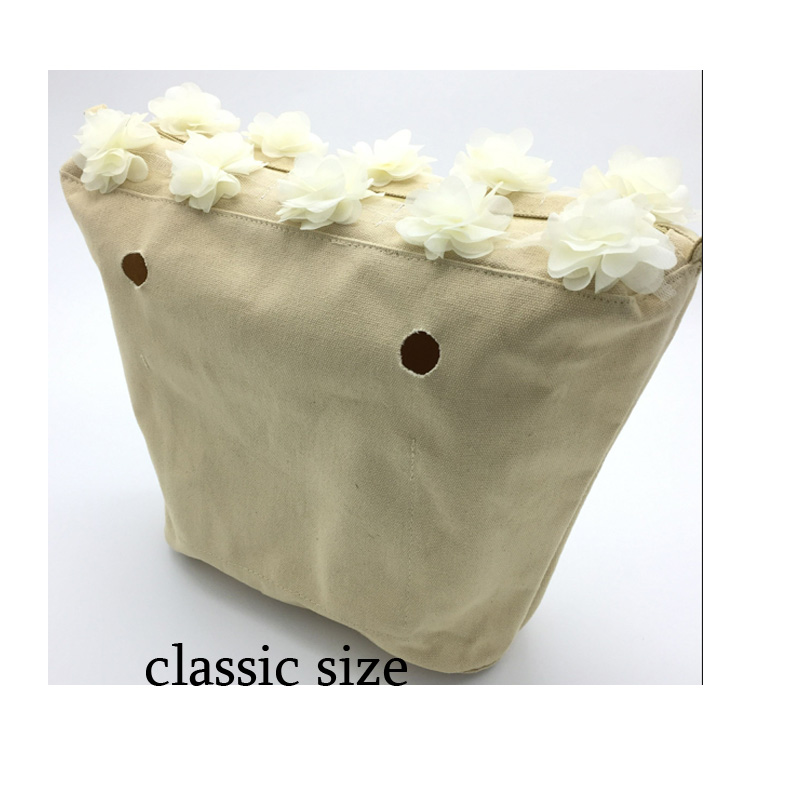 1 pcs canvas flowery classic size inner bag for obag classic bag accessary tanqu tela insert lining for o chic ochic colorful canvas inner pocket waterproof inner pocket for obag