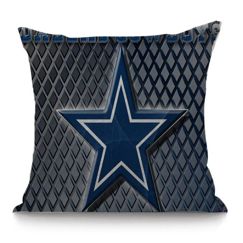 The seat cushion for sofa car decorative linen cotton cushion dallas  cowboys print throw pillow 45x45 cm home decor-in Cushion from Home    Garden on ... 61215698e