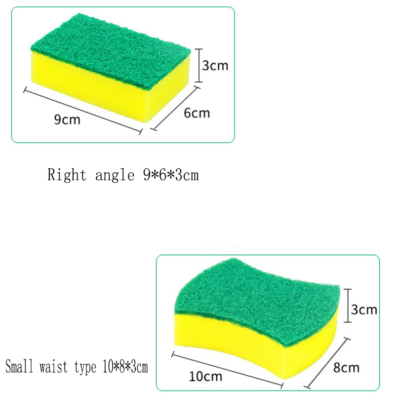 Image 2 - 10Pcs High Density Sponge Kitchen Cleaning Tools Washing Towels Wiping Rags Sponge Scouring Pad Microfiber Dish Cleaning Cloth-in Sponges & Scouring Pads from Home & Garden