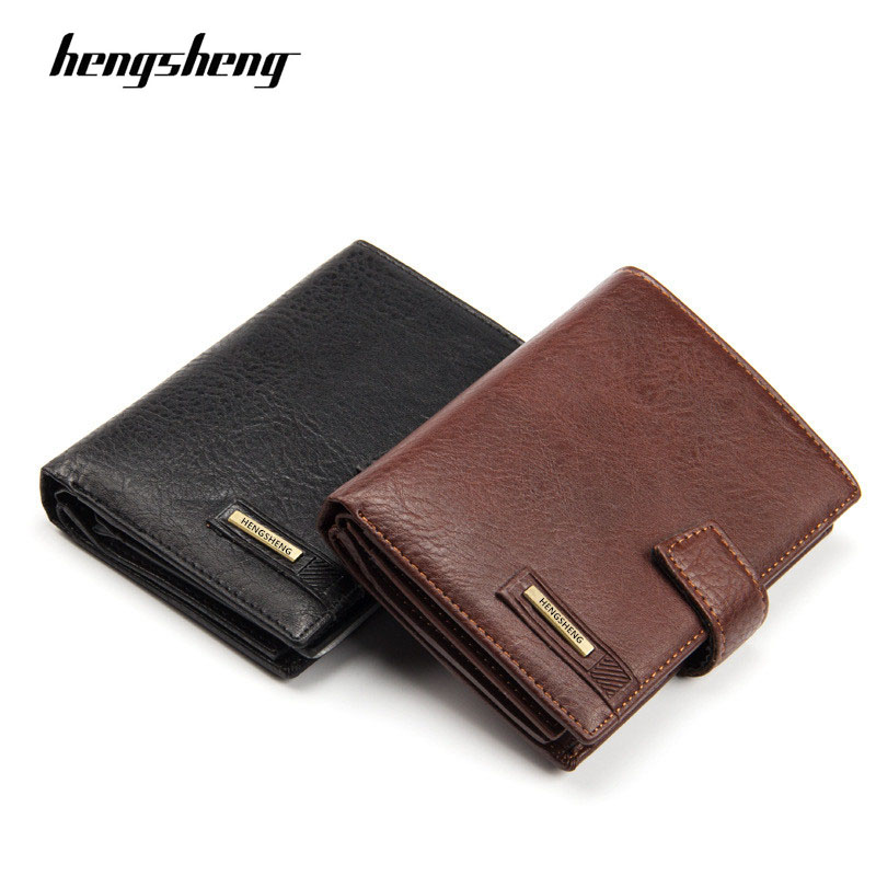 2020 Brand Hengsheng Men's Wallet High Quality Hasp Passport Purse For Male New Arrival Vintage Card Holder With Coin Pocket