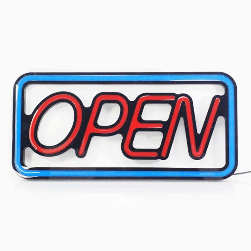 Enseigne au néon ouverte de LED lumineuse de taille de 42*20cm pour le magasin de magasin d'affaires et l'affichage de fenêtre