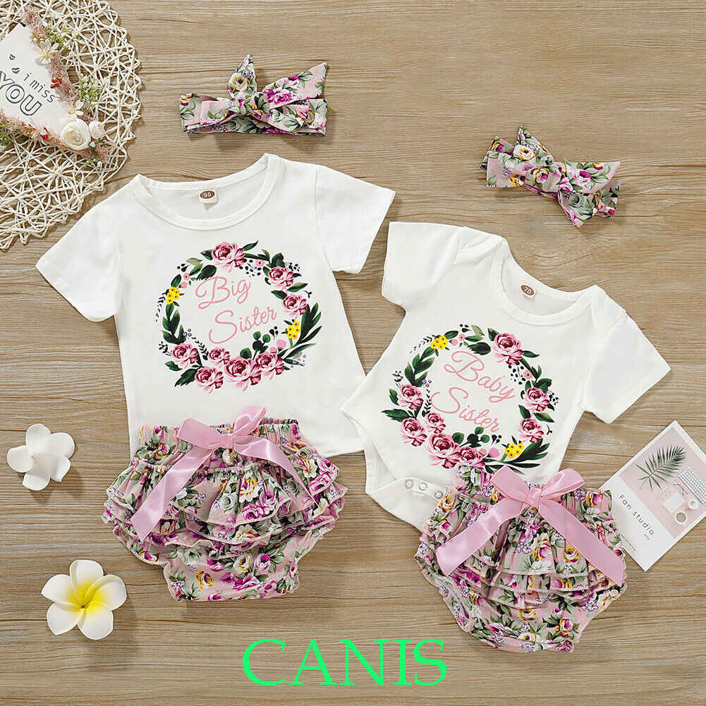 b6e2a4aab85c6 3Pcs Baby Outfit Clothes Girls Letter Romper Tops Mesh Shorts Shinny ...