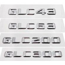 front grille suitable for glc class w253 gtr 2015 2018 x253 glc200 glc250 glc300 glc450 glc63 grille without central logo GLC43 GLC63 GLC200 GLC300 Rear Boot Trunk Lid Letters Badge Emblem Logo for Mercedes Benz GLC Class W253