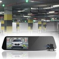 1080P HD Car Drive Recorder USB TF Card Rear View Mirror Detector Dual Camera With Night Vision Tachograph 5 Million Pixels